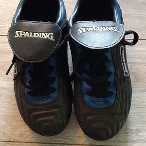 Youth Spalding Soccer Cleats/Blue/Black- Size 13